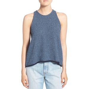 Madewell blue fringe sleeveless top - Medium